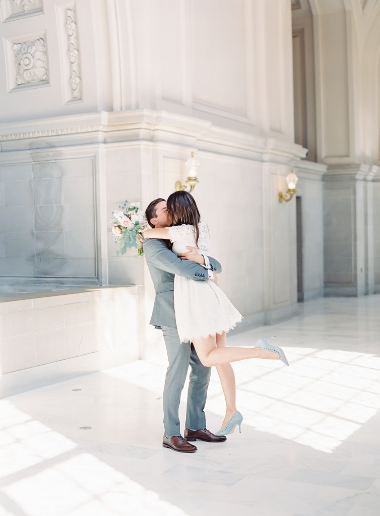 sf city hall elopement | the great romance photo
